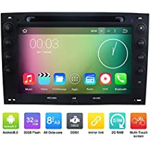 7pulgadas Octa Core 1024* 600Android 6.0coche reproductor de DVD GPS navegación Multimedia estéreo del coche para Renault Megane 20032004200520062007200820092010Radio Control de volante con 3G WIFI Bluetooth libre 8G tarjeta SD Mapa