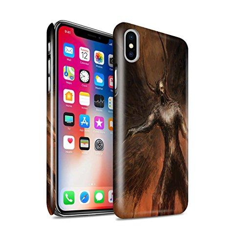 Offiziell Chris Cold Hülle / Glanz Snap-On Case für Apple iPhone X/10 / Pack 10pcs Muster / Dunkle Kunst Dämon Kollektion Schwarzen Flügeln