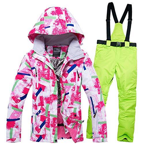 Zjsjacket Skianzug Damen Ski Anzüge Rosa Wasserdicht Atmungsaktiv Winddicht Weibliche Schnee Jacke Und Snowboardhosen Set Winter Skibekleidung Kleidung | 06925236895623