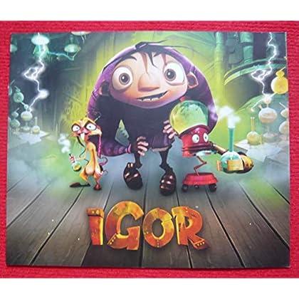 Dossier presse de Igor (2008) – 22x27cm, 20 p - Film de Tony Leondis – Photos + Synopsis + Notes prod (5 p) + Présentation personnages - Fiche artistique – État neuf.