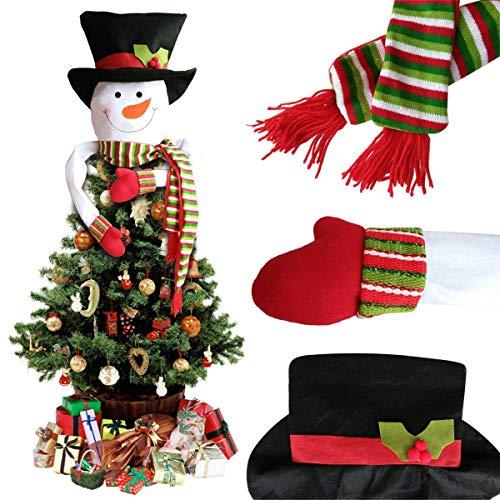 Sweetheart -lmm puntale per albero di natale, 132,1cm cute snowman top hat hugger winter wonderland festa del ringraziamento anno decorazioni dell' albero di natale ornamento