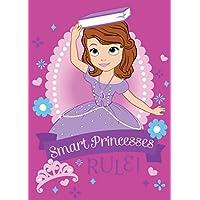 Associated Weavers 620008 - Tappeto in poliammide, soggetto: Sofia la Principessa (dal cartone Disney), 133 x 2 x 95 cm, colore: Rosa