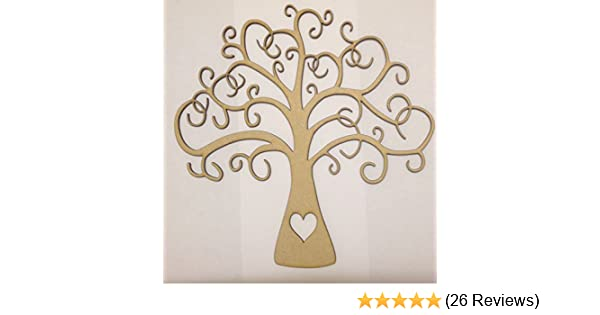 Arched Bough Tree Pack of 2-3mm MDF Wooden Craft Blank