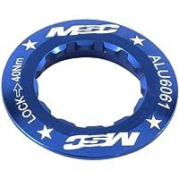MSC Bikes Single Speed. Alu6061 T4 CNC.12D - Tapa de cassette de ciclismo, color azul anodizado