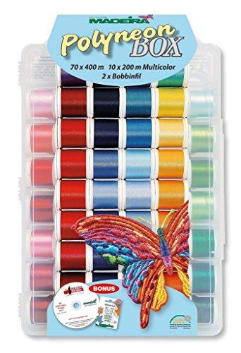 Madeira Polyneon Box Nr.8085, Stickgarn für Stickmaschine -
