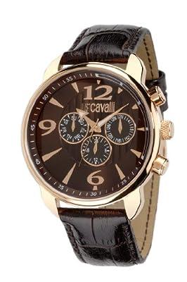 Just Cavalli R7271681055 - Reloj cronógrafo de cuarzo para hombre con correa de piel, color marrón de Just Cavalli