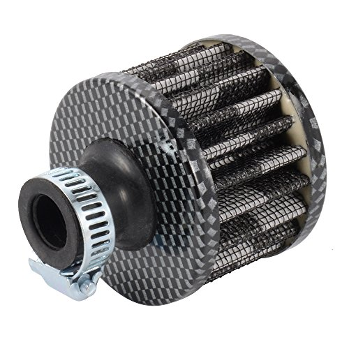 XCSOURCE filtro dell'aria di raffreddamento Turbo ingresso universale 13 millimetri Cono Auto Air sfiato Carter Vento lavabile in fibra di carbonio MA408