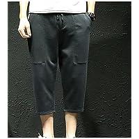 TT&MEN'S PANTS Männer normale mittelhohe Micro-elastische Chinos Hosen, einfache feste Polyester Feder , xxl