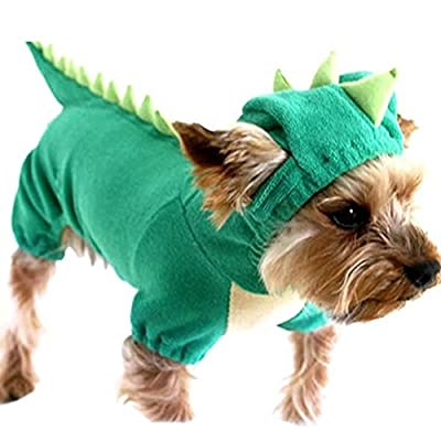Brightup Dog Pet Cat Halloween Dinosaur Costume Puppy Coat Outfits Jumper XS/S/M/L/XL by pupproperty dog clothing