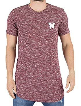 Good For Nothing Hombre Marled la camiseta del logotipo, Rojo