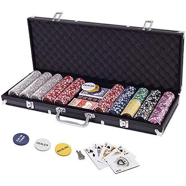 senza copertura Set di 10 fiches professionali da poker in acrilico 100 vassoi Casinlog
