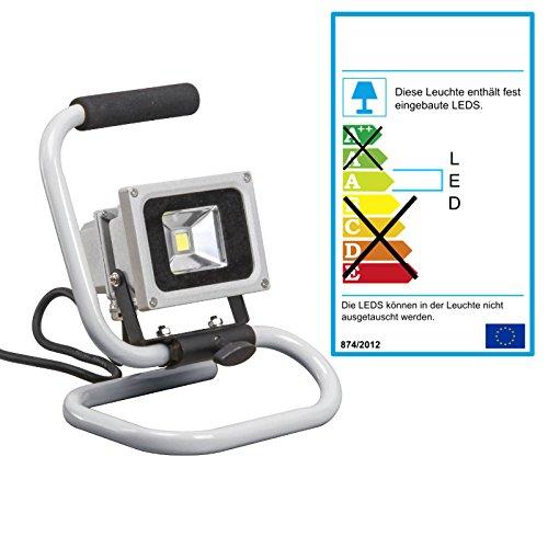 Projecteur LED Phare à poser, avec 10 W, 6500 K blanc froid, argent