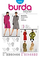Burda Ladies Sewing Pattern 8292 - Coats & Jackets Sizes: 10-22