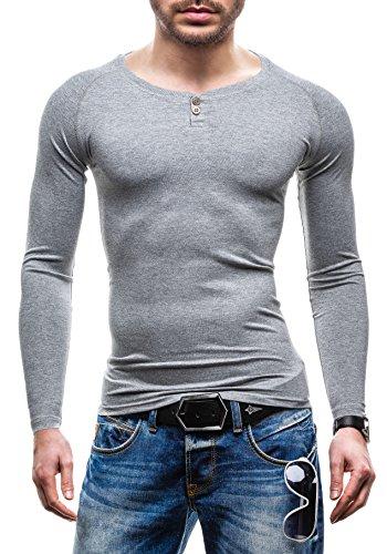 BOLF Herren Longsleeve Sweatshirt GLO-STORY 5547 Grau XL [1A1]