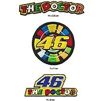 The Doctor 46parche para planchar Patch 3pieza Rossi Moto GP Turbo Envío
