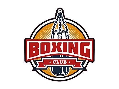 1 x Aufkleber Boxing Sticker Club Boxsack Sandsack Boxen Heavy Weight Logo NEU