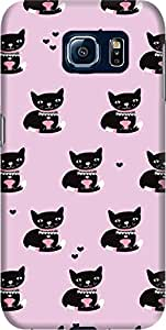 DailyObjects Black Kitty Cat Case For Samsung Galaxy S6