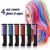 Auswaschbar Haarkreide für Kinder - 6 bunte Farben Rainbow natürliche Haarfärbung Set Jungen Hair...