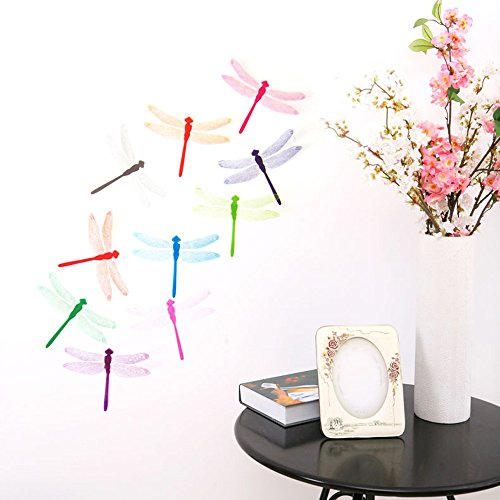 Zegeey 10 stücke Multicolor Aufkleber Wandaufkleber Home Dekorationen 3D Libelle Regenbogen PVC