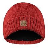 Rubberneck Flash Beanie Mütze reflektierend aus Wolle mit Innenfleece, One Size, Damen und Herren (Rot)