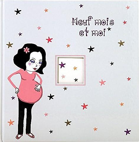 Exacompta 16040E Neuf mois et Moi Livre de Grossesse Illustré 80 Pages Carton/Papier Gris 24,5 x 24,7 x 1 cm