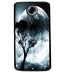 ColourCraft Moon View Design Back Case Cover for MOTOROLA GOOGLE NEXUS 6