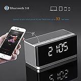 Musky Portable Wireless Bluetooth Speaker,LED Display Clock, Alarm , 10W Output, Deep Bass, Hands-free, FM Radio, USB HOST, TF Card Slot (Black)