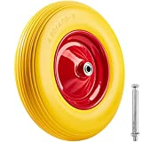 Ruota per carriola in gomma piena antiforatura | Pneumatico incl. cerchione in acciaio e asse | Portata: 150 kg