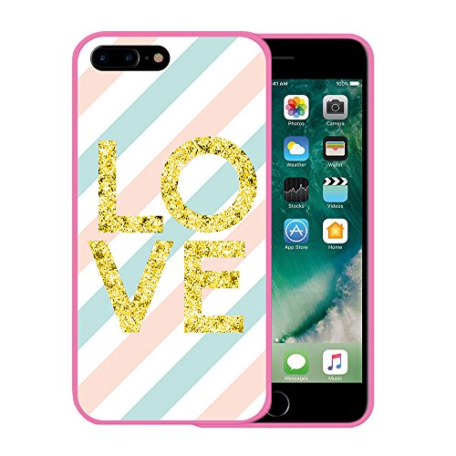 iPhone 7 Plus Hülle, WoowCase Handyhülle Silikon für [ iPhone 7 Plus ] Roma Itallien Symbole Handytasche Handy Cover Case Schutzhülle Flexible TPU - Schwarz Housse Gel iPhone 7 Plus Rosa D0434