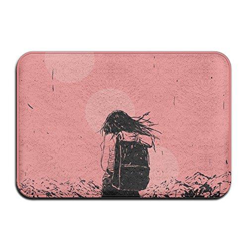 Qfxhfj Teppichreiniger Maschine Clearance Personalisierte Fußmatten Mädchen rosa pink View Zug Beauty Schwarz Kleid Funny Teppich Sweeper (Teppich Clearance Schwarzer)