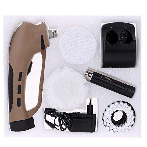 Anself Pulidor para Zapatos Eléctrico Recargable Cepillos de Productos de Cuero para el Cuidado de Cuero
