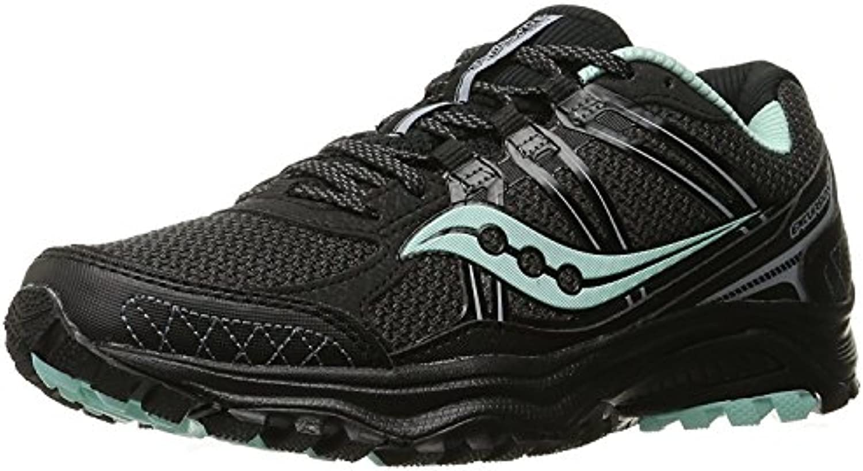 Saucony Women's Grid Excursion Tr10 Trail Running Shoe, Negro/Menta, 38 B(M) EU/5 B(M) UK