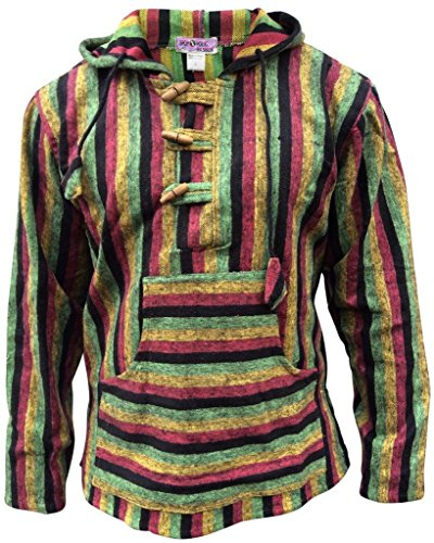 SHOPOHOLIC FASHION Herren Kapuzenpullover * One size Gr. L, Rasta Mix (Fashion Rasta)