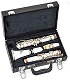 ts-ideen Böhm Bb Klarinette in Weiß mit Kunstleder-Koffer und Zubehör