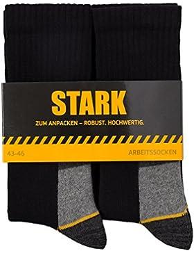 6 Paar STARK universal Herren Arbeitssocken verstärkt aus Baumwolle robust hochwertig Größe 39-42, 43-46, 47-50...