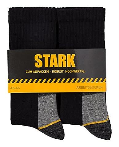 6 Paar STARK Arbeitssocken Größe 47-50 robust Herren verstärkt aus Baumwolle hochwertig universal dick lang warm für Winter und Sommer atmungsaktiv auch für Damen Work Socks