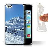 Stuff4 Coque Gel TPU de Coque pour Apple iPhone 5C / Paysage Enneigé Design/Ski/Planche Neige Collection