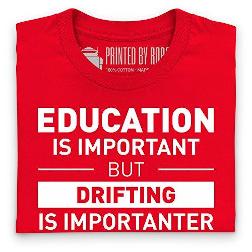 Drifting T-Shirt, Herren Rot