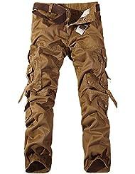 GITVIENAR Herren Sommer Outdoor Arbeithose Fitness atmungsaktive bequeme Hosen aus Baumwolle Sport Kletterhose