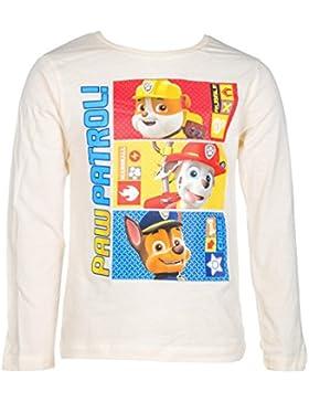 Paw Patrol Langarm-Shirt, original Lizenzware, naturweiß, Gr. 98-116