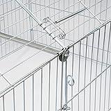 WOLTU® Freigehege HT2067m1-a Laufstall Gehege Kleintiergehege Welpenauslauf mit Ausbruchsperre 220 x 103 x 103 cm, mit Abdeckung, inkl. Sonnenschutz, Verzinkte Ausführung - 6