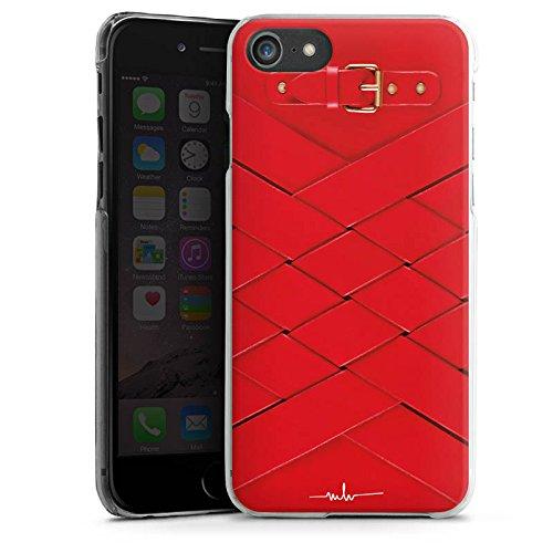 Apple iPhone 8 Tasche Hülle Flip Case Schnalle Ruby Fashion Mode Hard Case transparent