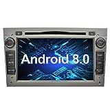Ohok 7 Pollici Android 8.0.0 Oreo Octa Core 4G+32G 2 Din In Dash Autoradio Schermo di Tocco Lettore DVD Navigatore GPS Con Bluetooth Per OPEL Vauxhall Astra Antara Vectra Corsa Zafira grigio