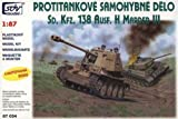 SDV Modellbau Kunststoff Modellbausatz Militär 1:87 H0 Panzer WW II Sd Kfz. 138 AUSF. H Marder III Panzer Fahrzeuge Zweiter Weltkrieg