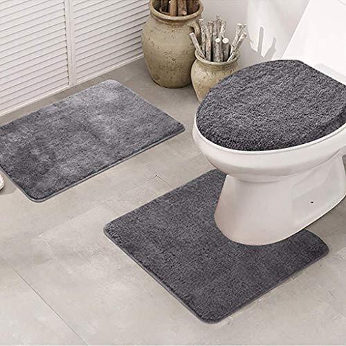 3 stück toilettensitz sitz rutschfeste fischschuppen bad matte bad küche teppich tür matte dekoration warm pad wc abdeckung