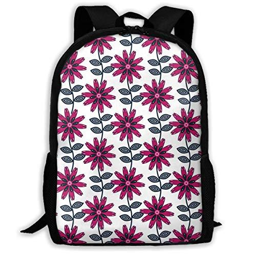 Schulrucksack Blume in der Volkskunst Rucksack wasserdichte Schultaschen Durable Travel Camping Rucksäcke für Jungen und Mädchen -