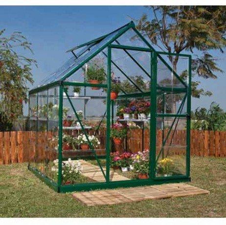 Serre de jardin en polycarbonate Harmony 3,44 m² Harmony6x6_2 - longueur : 1m86 Vert H