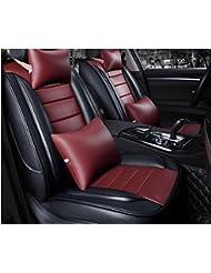 AMYMGLL Cuir universel de voiture Coussin Set Édition Deluxe (7set) (11Réglez) et Standard Edition Eco Universal Coussin Car Four Seasons Universal 5 Couleurs options , 2
