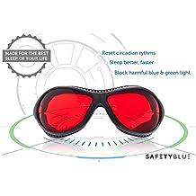 SafetyBlue-Sleep Salvador Ultra - Gafas Noche bloquea la luz más perjudiciales que azules de