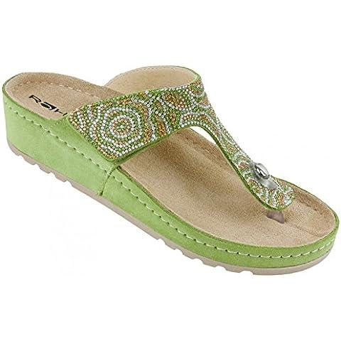 ROHDE Donne Thong Sandal 5812-60 verde, Gr.